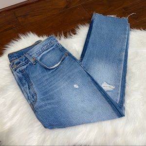 NWT Levi's 501 Straight Leg Crop Jeans Size 31